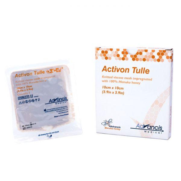 Activon Tulle® Tessuto in maglia di viscosa impregnato di miele di Manuka al 100%