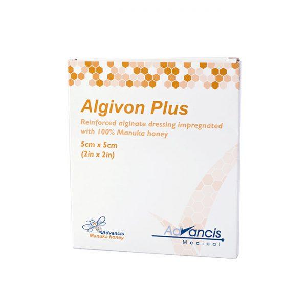 Algivon® Plus. Medicazione rinforzata in alginato impregnata di miele di Manuka al 100